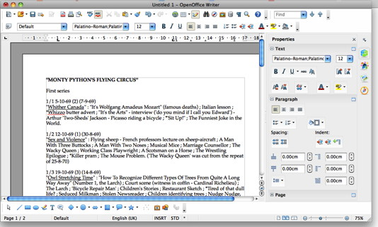 open office mac 10.3.9